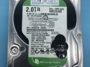 开盘恢复西部数据2TB台式机硬盘WD20EADS-00R6B0敲盘停转更换磁头开盘数据恢复成功